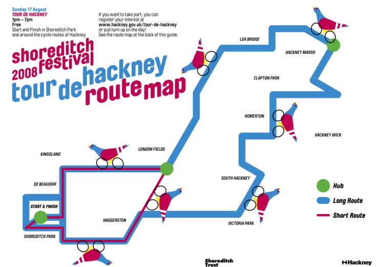 Tour De Hackney route map