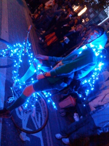 the thames festival cyclodelic blue bike