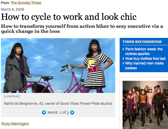 cycle to work and look chic sunday times