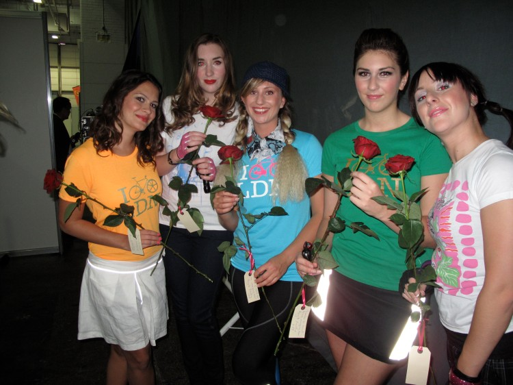 Backstage with the models/dancers from Kingston University