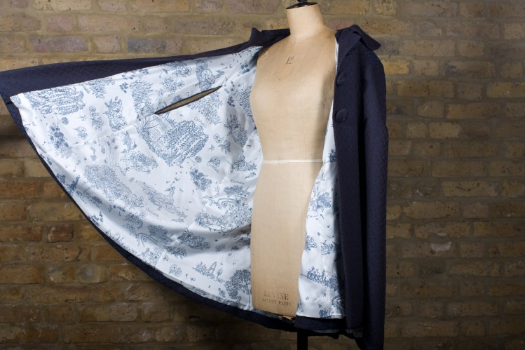 Cyclodelic Limited Edition Cape with hand drawn and printed Silk Lining