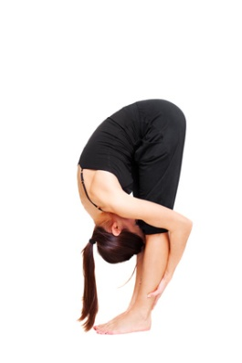 woman doing stretch exercises